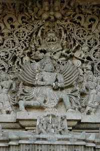 Chennakesava temple: over the main door to the temple.