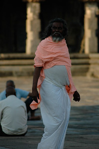 Chennakesava temple: another temple visitor.