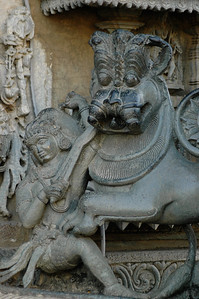 Chennakesava temple: defeating another demon.