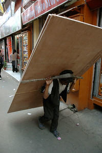 Darjeeling: even construction supplies are carried uphill this way.