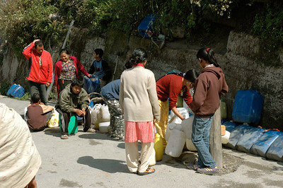 Darjeeling is on a hilltop, and water is in short supply.