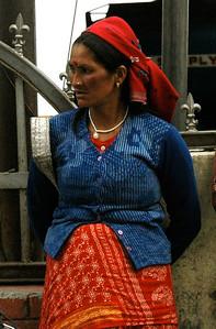Darjeeling: woman on the street.