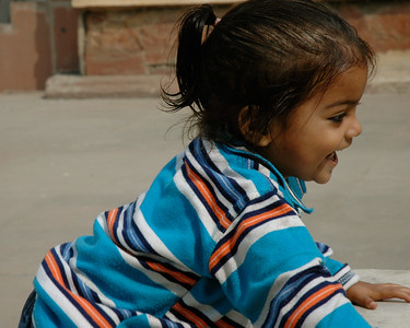 Delhi: a child at Red Fort.
