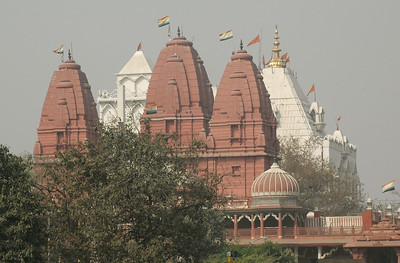 Delhi: Jain and Hindu temples near Red Fort.