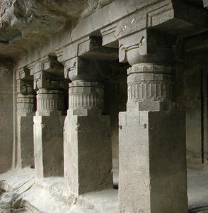 Ellora: The columns are purely for show, not for structure.