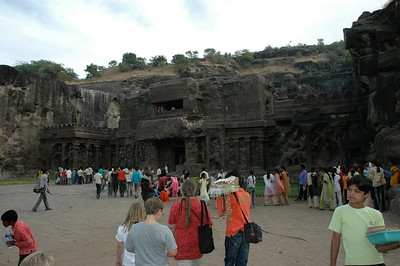 We visit Ellora caves; hawkers are thicker than flies.