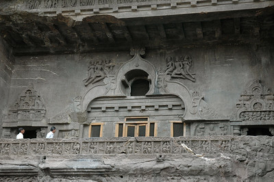 Ellora: Cave 10, from the 7th century A.D., is two stories.