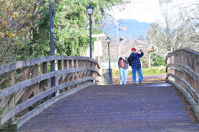 Dale and Kurt crossing the bridge.