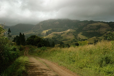it's a 4WD dirt road up into the hills above Lautoka - Fiji.