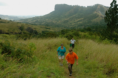 We explore the forests and grassland in the hills above Nadi, in the village of Abaca.
