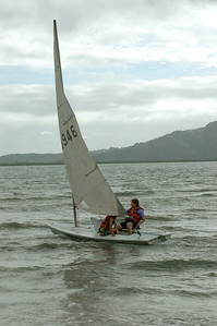 Mara and Pam sailing in Nadi bay, from Club Fiji resort.