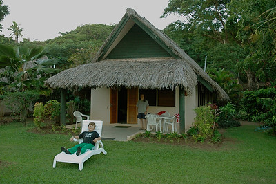 "We stayed in a ""Garden Bure"", close to the center of the action. [Malolo lailai, Fiji]"