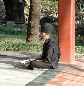 IIT Bombay: meditating at the temple.