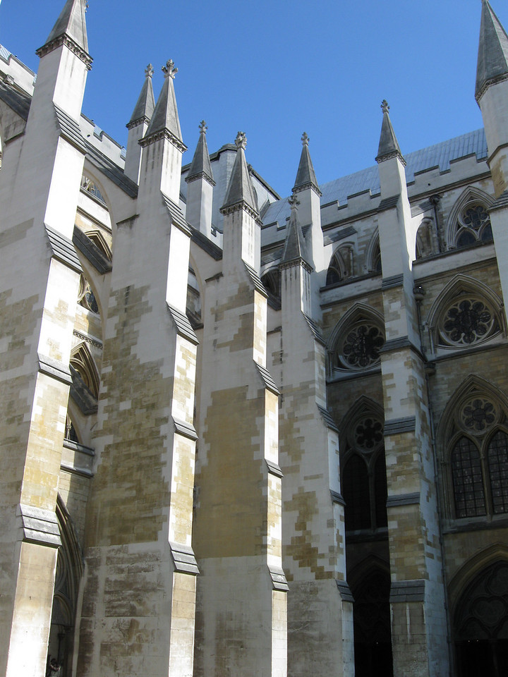 A courtyard in Westminster Abbey. No pictures are allowed in the Abbey itself.