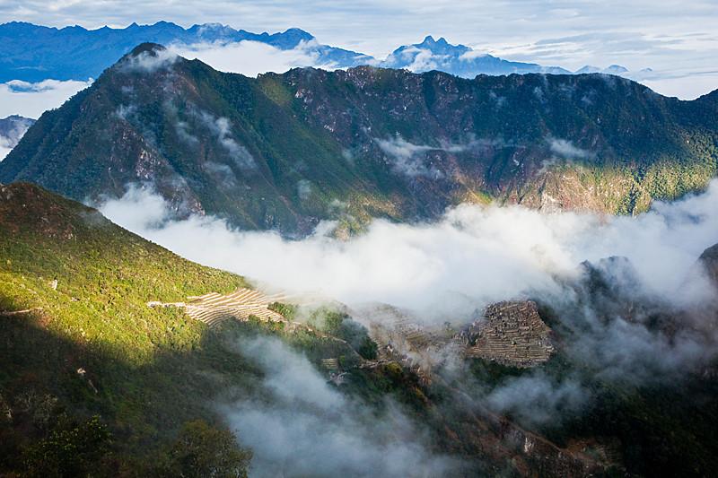 Sunrise at Machu Picchu.