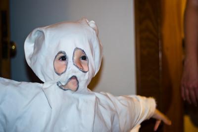 Ben as a ghost