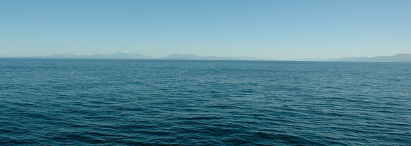 The south island – most of it – from Cook Strait. New Zealand.