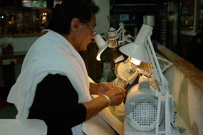 There, you can watch the artisans at work. Hakitika, South Island, New Zealand.