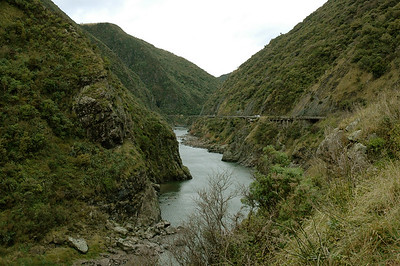 We wind through this narrow as we hop over to the eastern road. New Zealand.