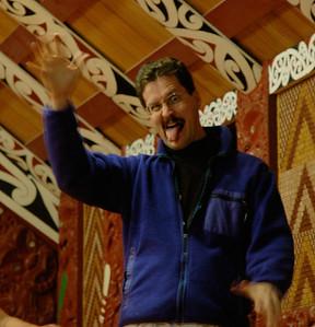 Haka dance - I think I did pretty well. (Rotorua, New Zealand)
