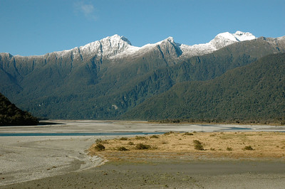 Beautiful, rugged countryside. South Island, New Zealand.