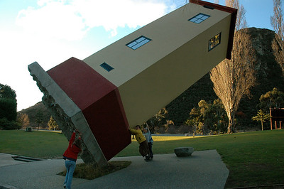 Outside PuzzlingWorld, in Wanaka, New Zealand.