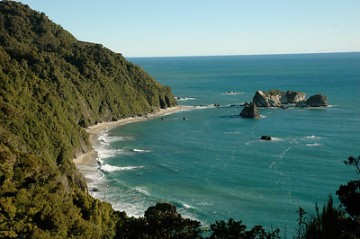 Coastline, as seen from Knight's Point. South Island, New Zealand.