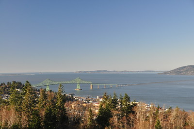 Bridge over the Columbia River at Astoria, Oregon.