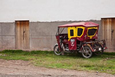 A taxi, Ollantaytambo, Peru.