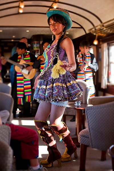 """""""These boots are made for walking..."""", Andean Explorer train."""