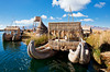 Reed boats at Islas Los Uros, Lake Titicaca.