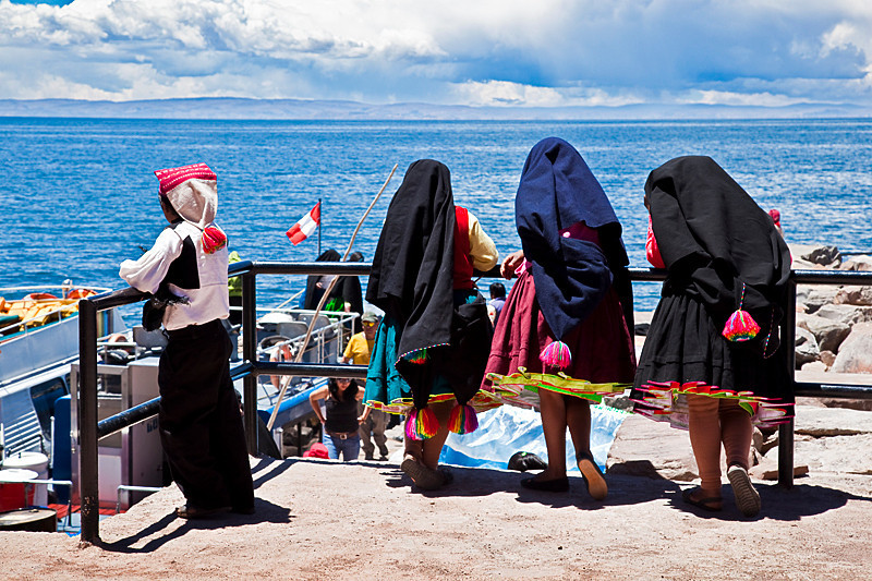 Isla Taquile, Lake Titicaca.<br /> <br /> Everyone speaks Quechua. Some also speak Spanish. There are native guides on the island that speak some English.