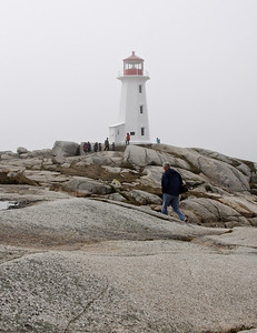 Chris at Peggy's Cove Lighthouse