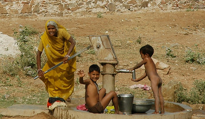 Rajasthan: village water pumps are busy places.