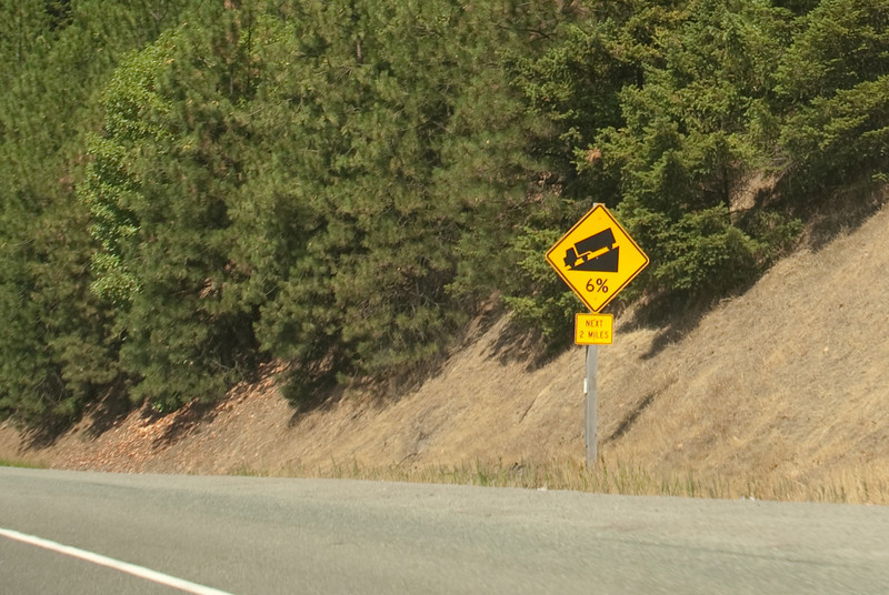 I-5 in Shasta is all 6% up and 6% down