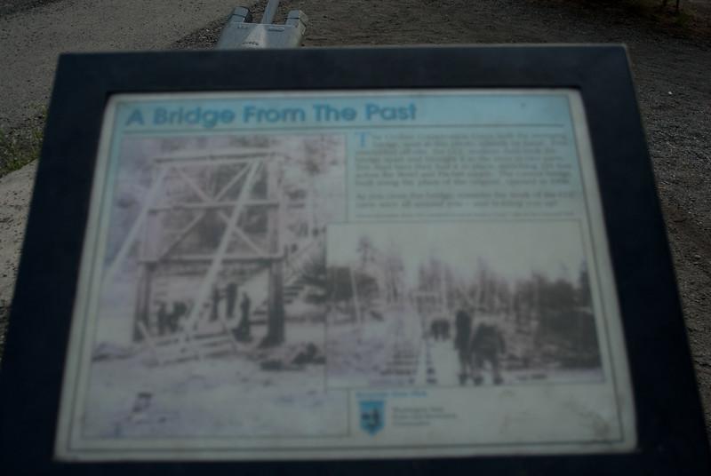 Spokane Riverfront Park bridge. I could barely read it in person.