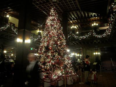 Christmas tree at the Coronado hotel