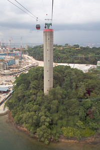 Cable car tower on Sentosa