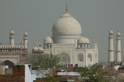 The Taj Mahal: view from our hotel.