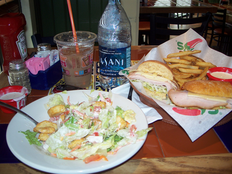 One last - very yummy - meal in America. From Chili's (and a coffee from Dunkin')