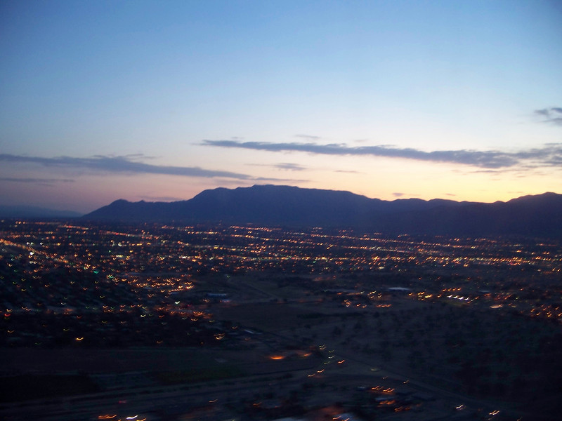 view of the Albuquerque from the plane