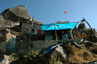 The tea stall at the halfway mark. [Dharamsala to Triund.]