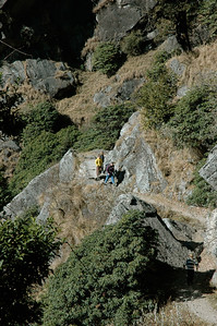 It gets steep near the top. Hiking in Dharamsala.
