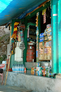 Everything one could want; drinks, toothbrushes, snacks, and more. [Dharamsala to Triund.]