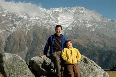 Daddy and John at Triund pass in Dharamsala.
