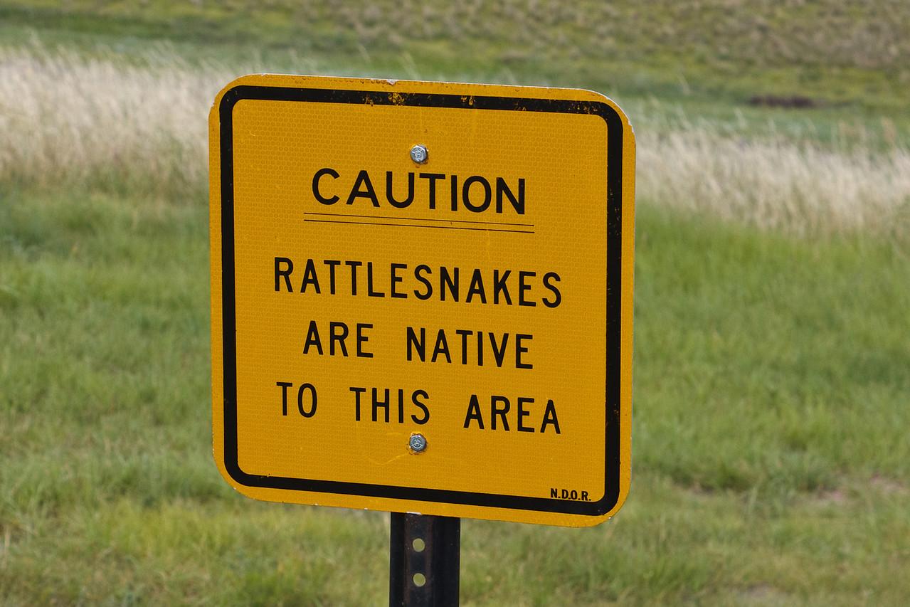 Warning at western Nebraska Rest Area