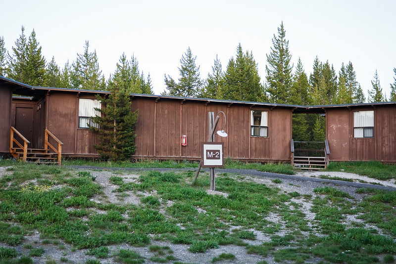 My cabin, to the right of the red fire-extinguisher, was part of the M-2 six-plex built in the 50s.