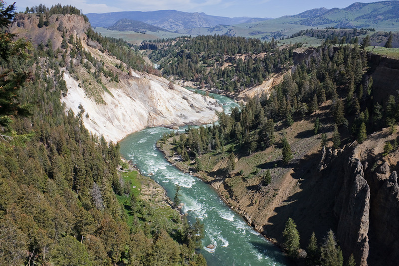 Yellowstone River flowing toward the Lamar Valley