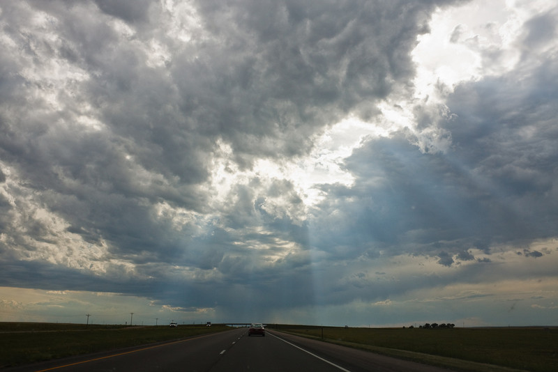 Storm clouds on the way to Cheyenne