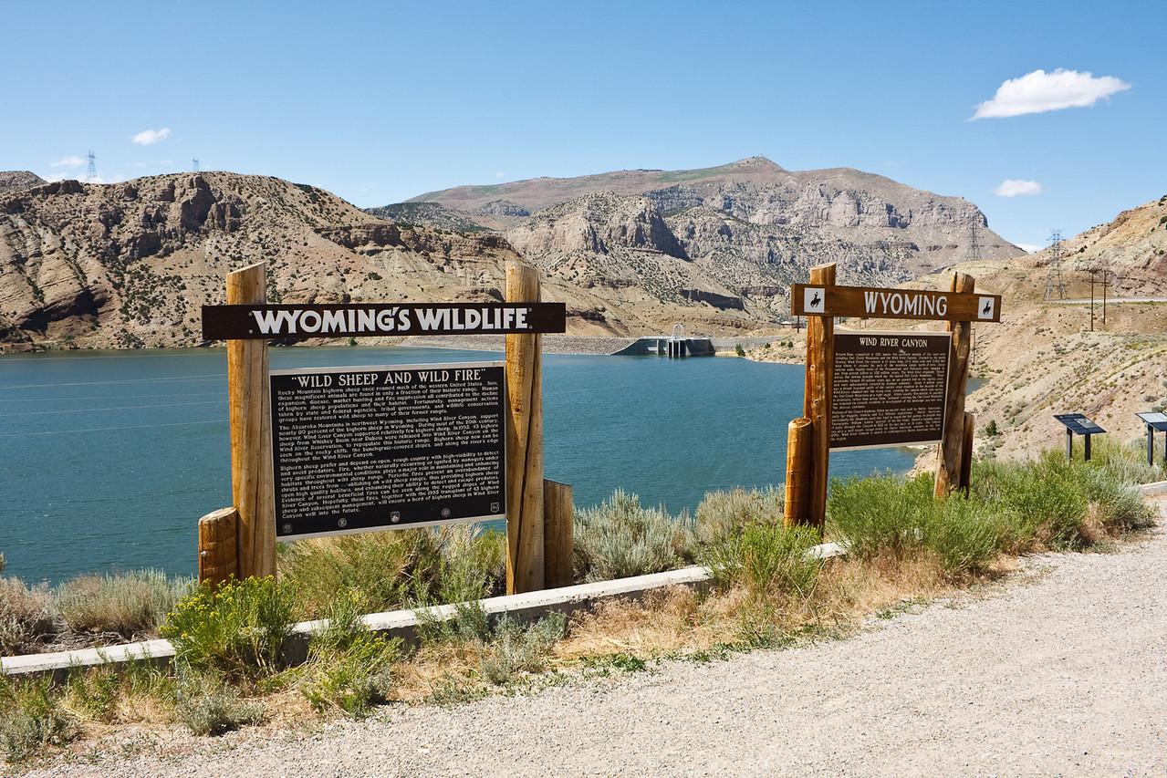 Boysen dam across Wind River Canyon